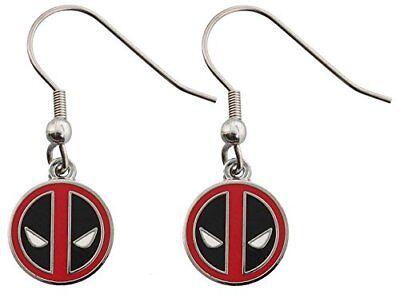 Marvel Deadpool Stainless Steel Dangle Earrings