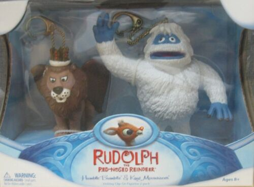 2007 Rudolph Humble Bumble Abominable Snowman & King Moonracer Clip-On Figures