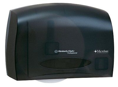 Scott Jumbo Roll JRT Coreless Toilet Paper Dispenser 09602, Smoke Black