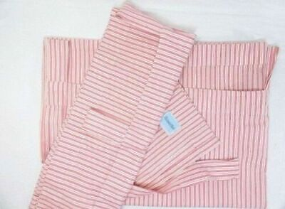The Land Of Nod Stripe Raspberry Pink 2-PC 88 x 64 Tab-Top Drapery Panel Set(s)
