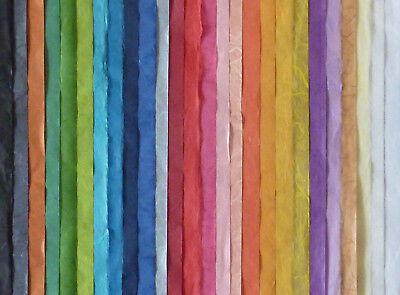 (3,29€/qm) Strohseide 50x70 cm  Naturpapier - Faserseide - Japanseide