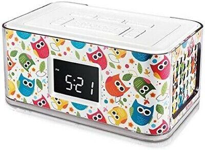 Venturer CR82622 Alarm Clock AM FM Radio White + Snooze + LED Display + USB Port