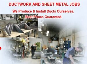 Professional DuctWork MFG & INSTALLATION for Home & Commercial