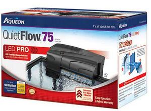 AQUEON QUIET FLOW 75 POWER FILTER FOR AQUARIUMS. 400 GPH.