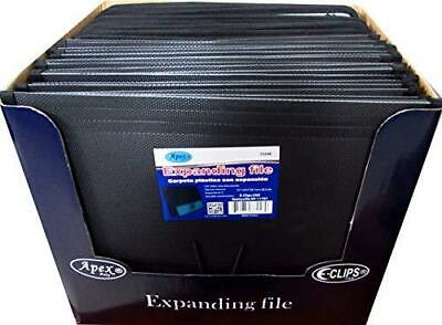 Expanding Document File Black And Grey Case Pack Of 36 Ideal For Bulk Buyers