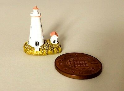 Tiny Lighthouse 2, Doll House Miniature Ornament, Seaside, 1,12th Scale