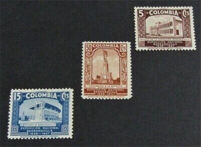 nystamps Colombia Stamp # 448-450 Mint OG H $30   L23y186