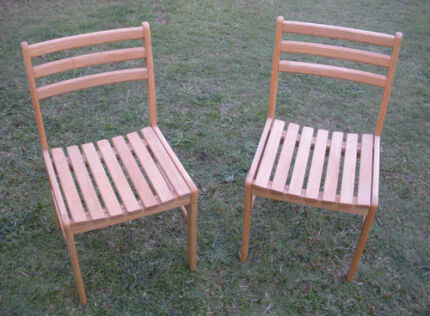 Wooden Chairs $40 pair Albion Brisbane North East Preview