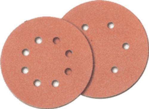 """Norton 01632  6-Hole Hook & Loop Sanding Disc, 60 Grit, 6"""", 25/Pk"""