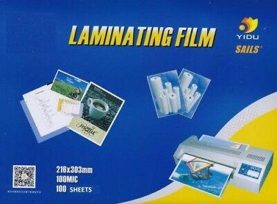 Laminating Pouches 100 Pouches 100 Micron 216 X 303mm A4 Size Premium Quality