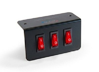 Triple Switch Panel - 1 Momentary - 2 Onoff - L Shaped Mounting Bracket