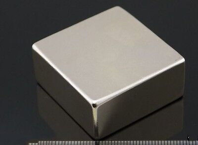 1pcs Block Cuboid Magnets 40mm X 40mm X 20mm Rare Earth Neodymium N50 M28 Ql