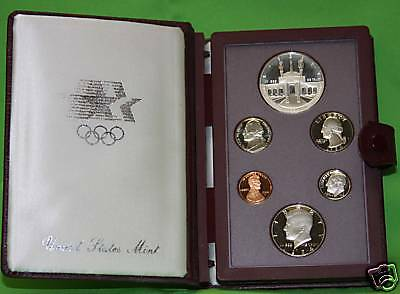 1984 PRESTIGE Proof Set. U.S. Mint Made. Complete & Original. With Box