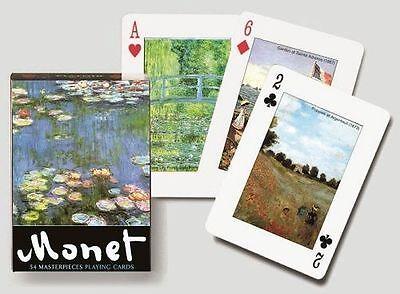 Monet single deck By Piatnik Playing Cards