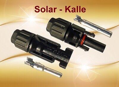 1 Paar MC4 Solar Stecker + Buchse 4-6mm² Original Lumberg für Solar PV Kabel ()