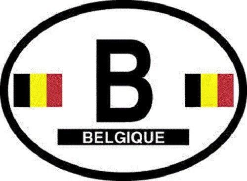Belgium Flag Sticker - New in package