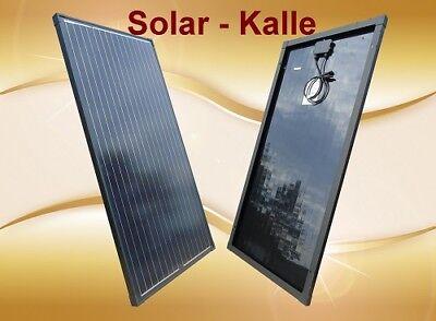 130w Solarpanel (Solarpanel Solarmodul 130Watt 130W 12V 12Volt Monokristallin in Black Wohnmobil)