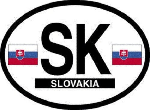 Slovakia Flag Sticker - New in package