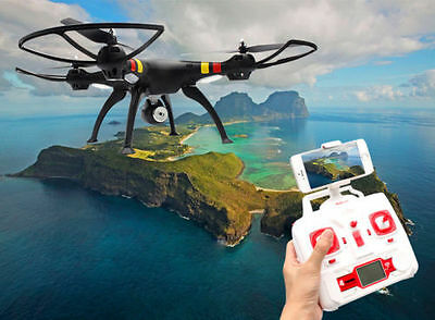 Syma X8W 2.4Ghz 4CH RC Headless FPV (Real Time) Quadcopter w/ Wifi Camera BLACK