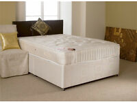 EXCLUSIVE SALE! Free Delivery! Brand New Looking! Double (Single + King Size) Bed & Med Mattress