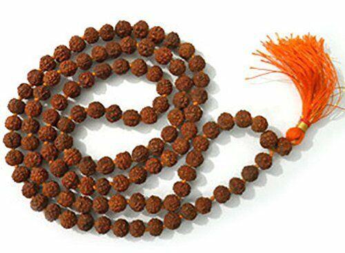 5 Face Rudraksha Mala,5 Mukhi Mala, Jaap Mala, 6mm Natural Rudraksha Bead Mala.