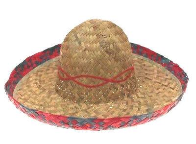 1 Stück MEXIKO SOMBRERO HUT Südsee Karibik Mexikaner Strohhut Kostüm - Karibik Party Kostüm