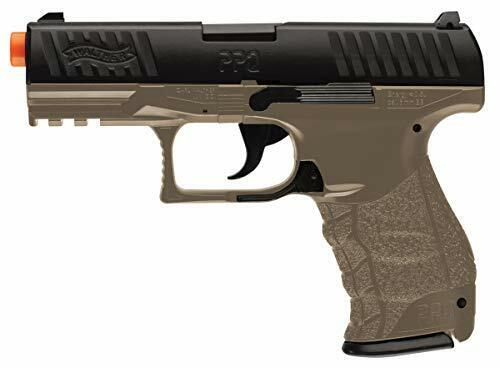 Spring Powered 6mm Caliber Airsoft Pistol Replica with 16 Rounds Magazine & BBs