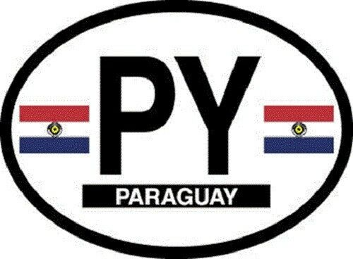 Paraguay Flag Sticker - New in package