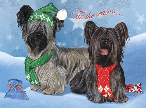 Skye Terrier Christmas Cards Set of 10 cards & 10 envelopes