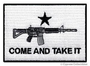 COME-AND-TAKE-IT-2nd-AMENDMENT-PATCH-iron-on-embroidered-ASSAULT-RIFLE-AR15-FLAG