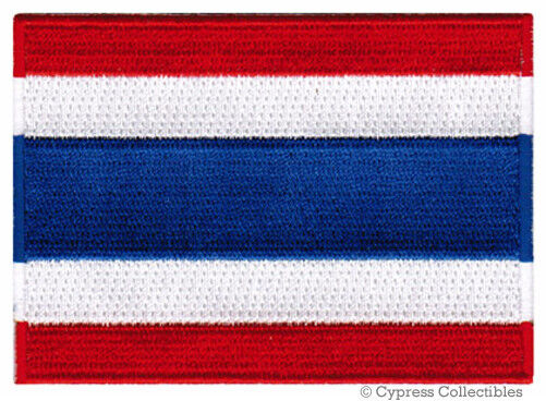 THAILAND FLAG embroidered iron-on PATCH Ratcha Anachak Thai EMBLEM APPLIQUE new