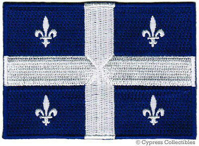 QUEBEC FLAG embroidered iron-on PATCH CANADA new EMBLEM CANA
