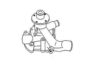 New Water Pump 74009278 Allis Chalmers 6060 6070 6080 F2 F3 K2 K3
