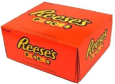 18 PACK  Reese's Pieces Peanut butter in crunchy shell best candy