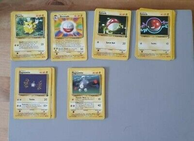 Pokemon Cards Mixed First Generation - Electric