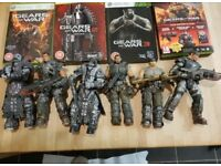 Gears of War bundle (xbox 360 console, Gears of War games & controller, figures and vehicles)