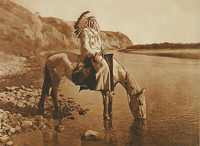 Bow River Blackfoot 15x22 Edward S. Curtis Native American Art (Edwards Curtis Native American Art)