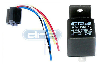 10 PAIR 50 AMP 12V BOSCH STYLE RELAY /& HARNESS SOCKET SPDT 100/% COPPER WIRES