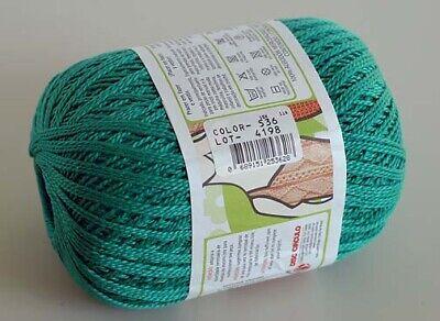 Crochet Yarn / Thread CIRCULO ANNE Mercerized Cotton - #5363 GREEN (Anne Yarn)