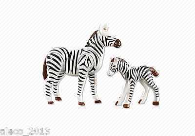 Playmobil Animales Cebra con Cria, Ref 7898 NUEVO, Accesorios, Zoo, Cebras