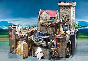 Playmobile Castle, Giant Troll, and Cannon playsets - NEW