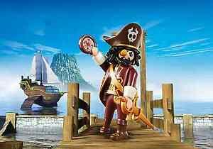Playmobil-Super-4-Pirata-con-Accessori-Sharkbeard-Rif-4798-NUOVO-Pirati
