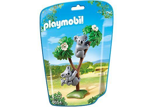 2 Koalas mit Baby KOALA aus dem playmobil ZOO N° 6654 wilde Tiere im Tierpark