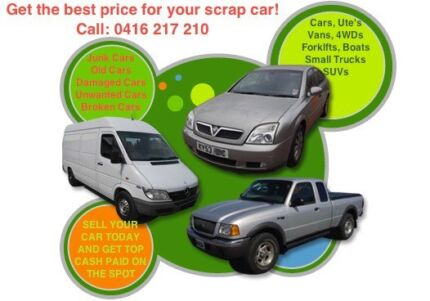 Wanted: SCRAP UNWANTED CARS VANS UTES 4WDS REMOVAL SERVICES