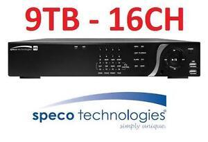 NEW SPECO 16CH HYBRID 9TB DVR 16-Channel 960H/1080p Hybrid DVR with 9TB HDD 103597553