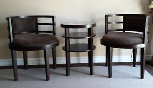 Coffee/Tea Table Set with Two Round Chairs