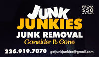 JUNK JUNKIES Junk Removal and Delivery Service