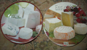4 NEW in Box ceramic cheese plates