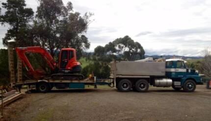 Volvo Tipper, tag trailer, Excavator & Bob Cat Narre Warren North Casey Area Preview