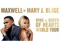 2 Maxwell & Mary J Bligè Concert Tickets - Friday 28th October - London o2 Arena - Block 103